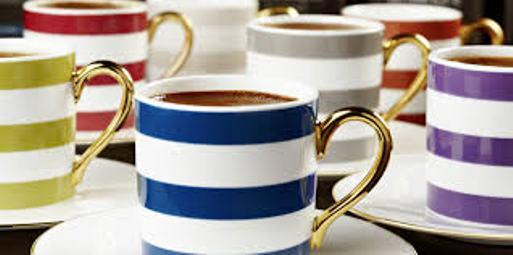 çizgi desenli şık türk kahve fincan modelleri