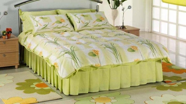 açık yeşil modern uyku seti modelleri