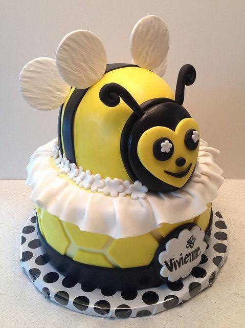 arı figürlü çocuk pasta modelleri