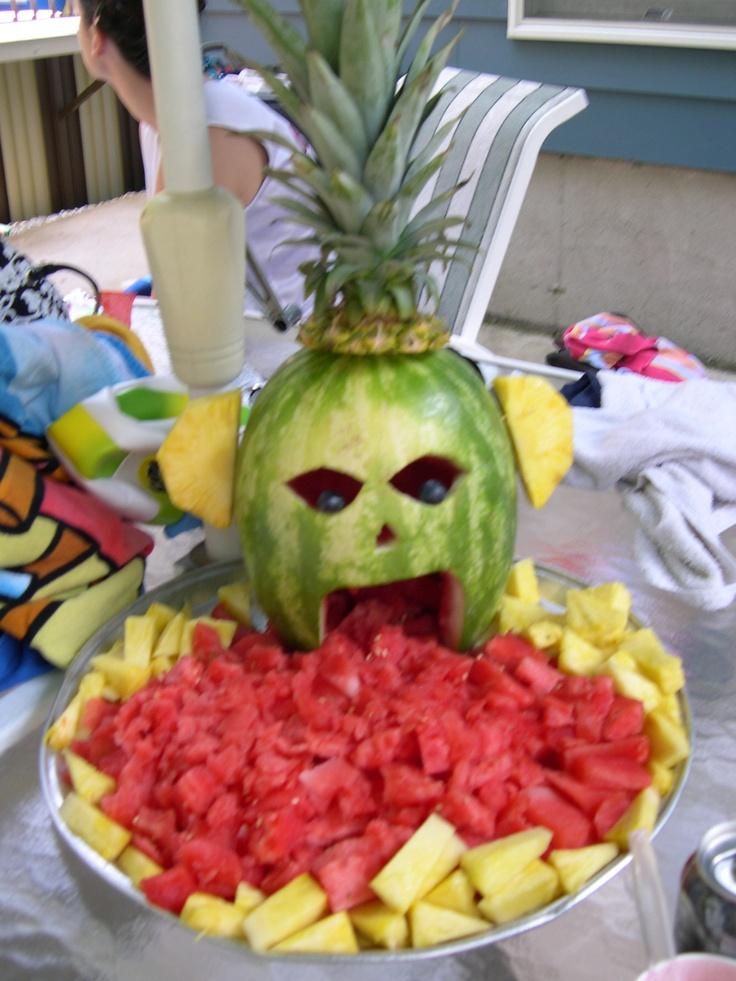 canavar figürlü meyve tabağı