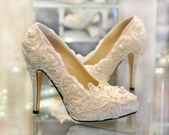 dantelli gelin ayakkabı çeşitleri