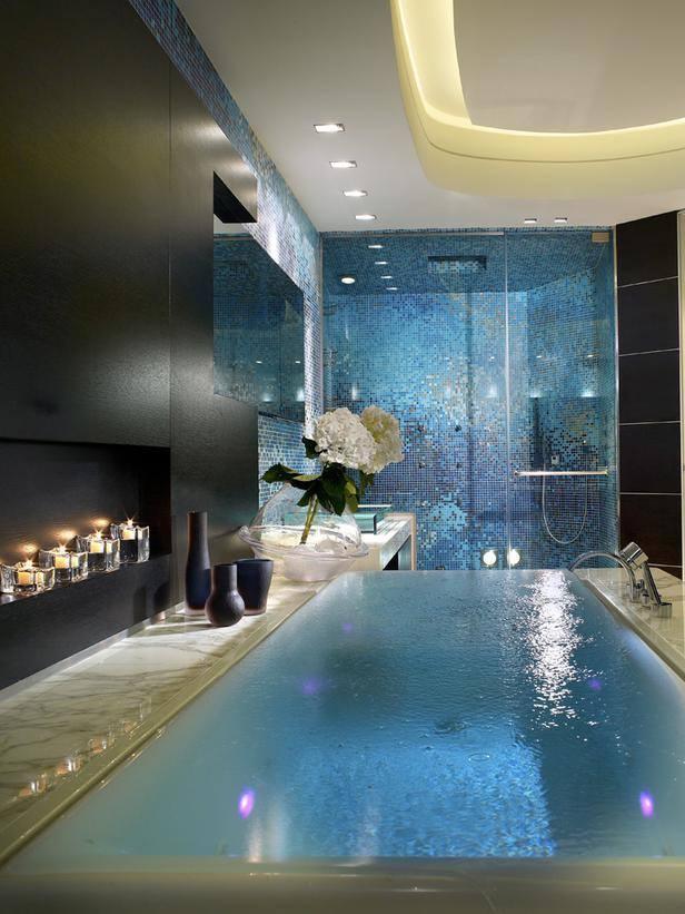 en şık romantik banyolar