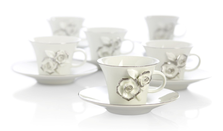 gül figürlü türk kahve fincan modelleri