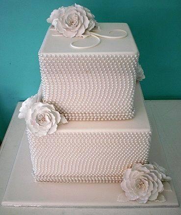 iki katlı kare gelin pastası modelleri