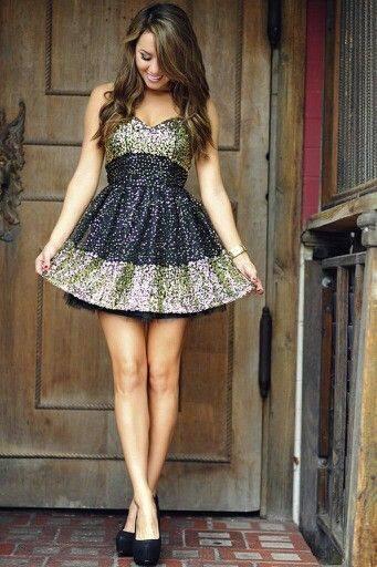 iki renkli ışıltılı gece elbise modelleri