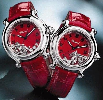 kırmızı modern bayan saat modelleri
