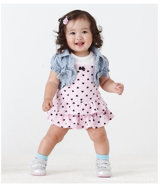 kalp desenli bebek elbisesi modelleri