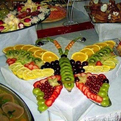 kelebek figürlü meyve tabağı