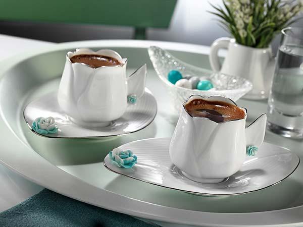lale biçiminde türk kahve fincan modelleri
