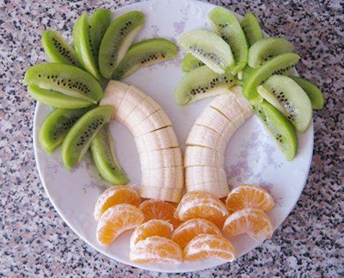 palmiyeli meyve tabagi örnegi