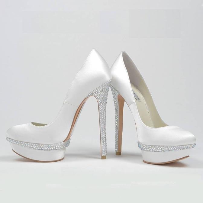 taş işlemeli gelin ayakkabı modelleri