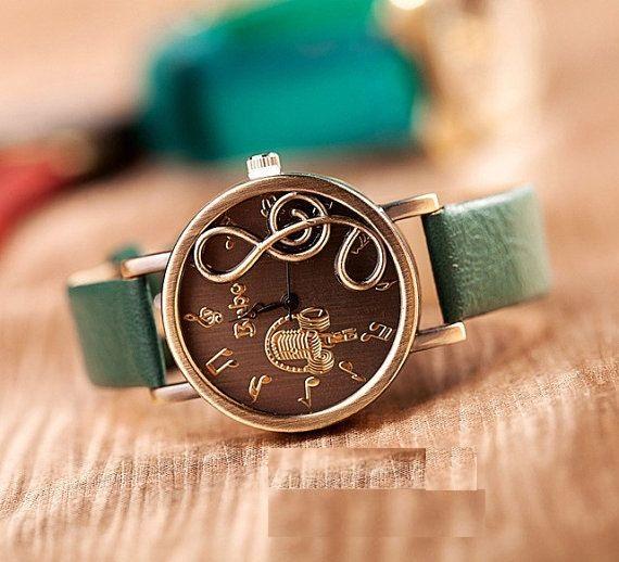 yeşil son sezon bayan kol saati modelleri