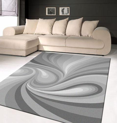 açık gri şık desenli halı modası