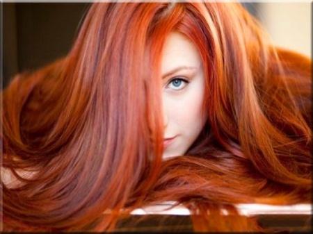 açık kırmızı tonlarda muhteşem kızıl saç stilleri