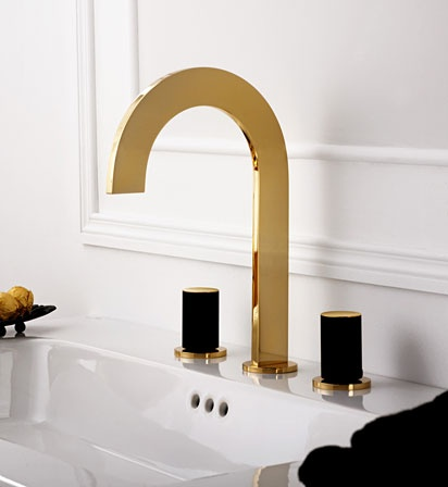 altın kaplama dekoratif musluklar