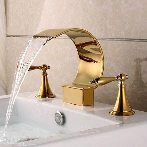 altın kaplama görkemli musluk modelleri
