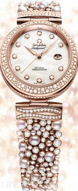 altın kaplama muhteşem incili bayan saatleri
