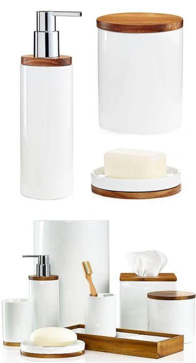 beyaz tonda muhteşem banyo aksesuar örnekleri