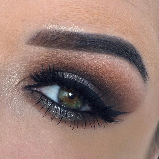 buğulu modern göz makyaj fikirleri