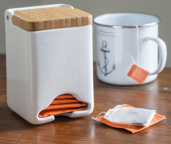 dekoratif poşet çay için tasarlanmış mutfak gereçleri