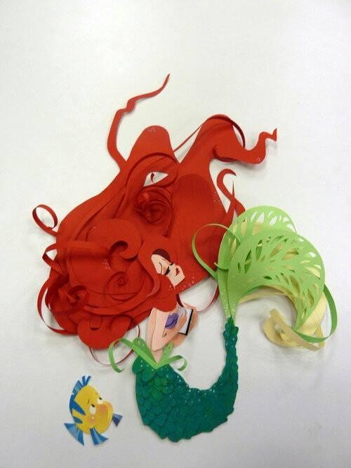 deniz kızı biçiminde duvar süsü örnekleri