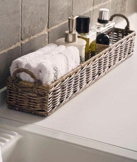 dikdörgen hasır görünümlü banyo aksesuar örnekleri