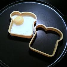 dilim ekmek biçiminde yumurta pişirme tasarımları