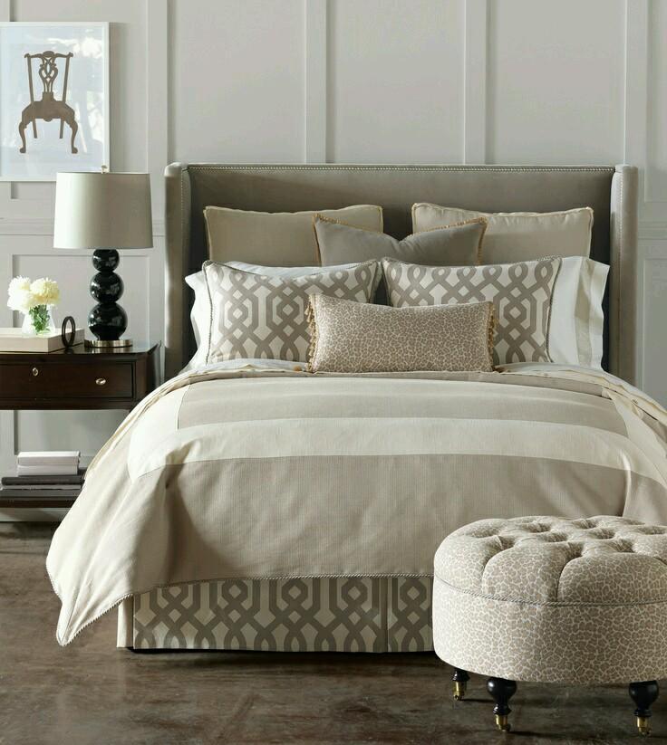 krem bej yatak örtüsü modeli