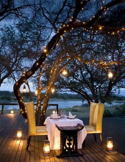 lüx ışıklandırmalı romantik masa trendleri