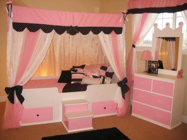yeni trend sevimli kız çocuk odası fikirleri