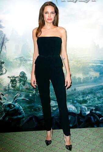 Ters üçgen vücut tipi Angelina
