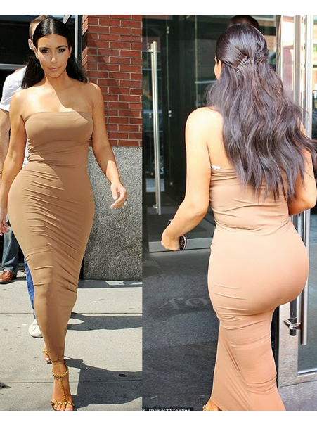 Vücudu tamamen saran büstiyer elbise