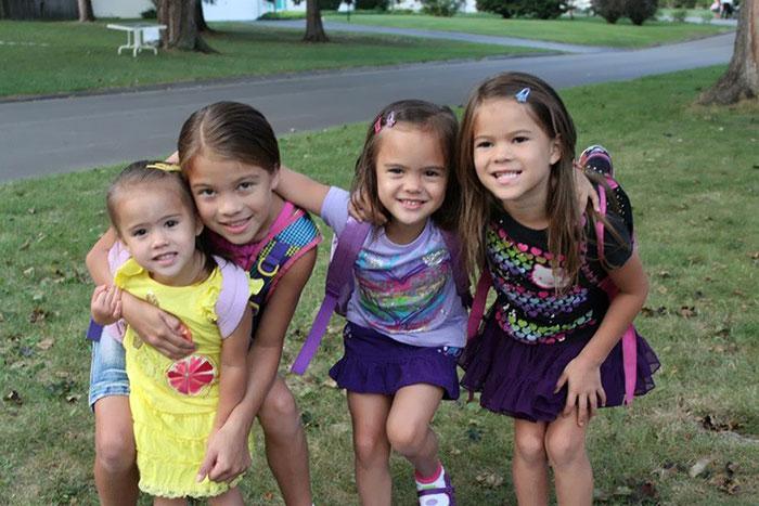 Dört kız çocuğunun yeni annesi oldu