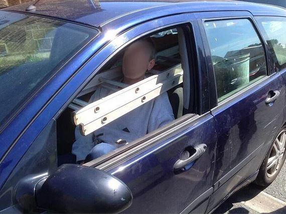 Merdiveni araba ile taşıma yöntemi