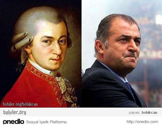 Wolfgang Amadeus Mozart ve Fatih Terim