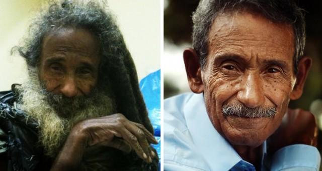 19 Evsiz adamın önceki ve sonraki hali