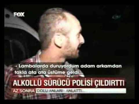 Alkollü sürücünn polisi çıldırttığı anlar