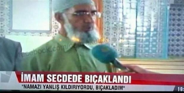 Namaz sırasında bıçaklanan imam haberi