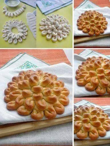 Çiçek şeklinde çörek yapılışı