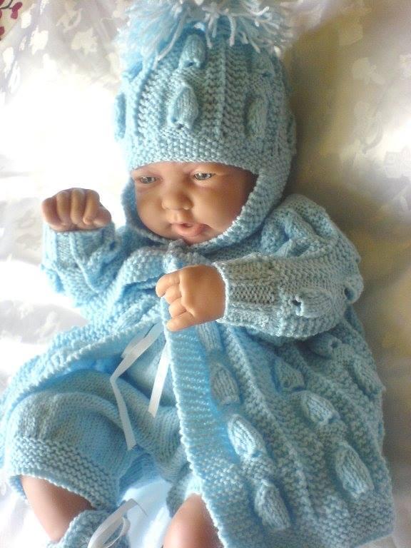 Örgü bebek hırka bere ve tulum takımı