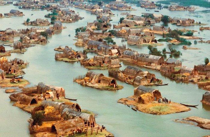 Bataklık Arapları yerleşim yerleri