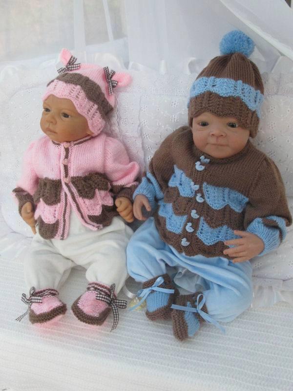 Erkek ve kız bebekler için örgüler