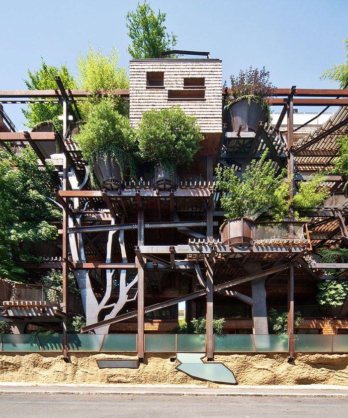 Mimar Luciano Pia'ın 5 katlı apartman çalışması