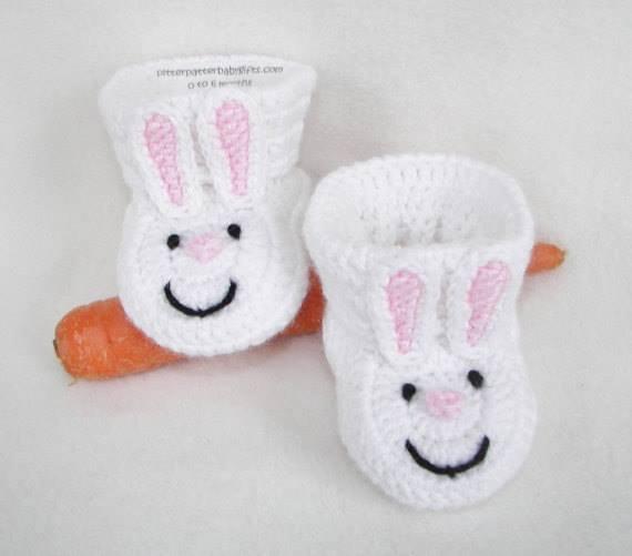 Tavşan örgü bebek patiği yapılışı
