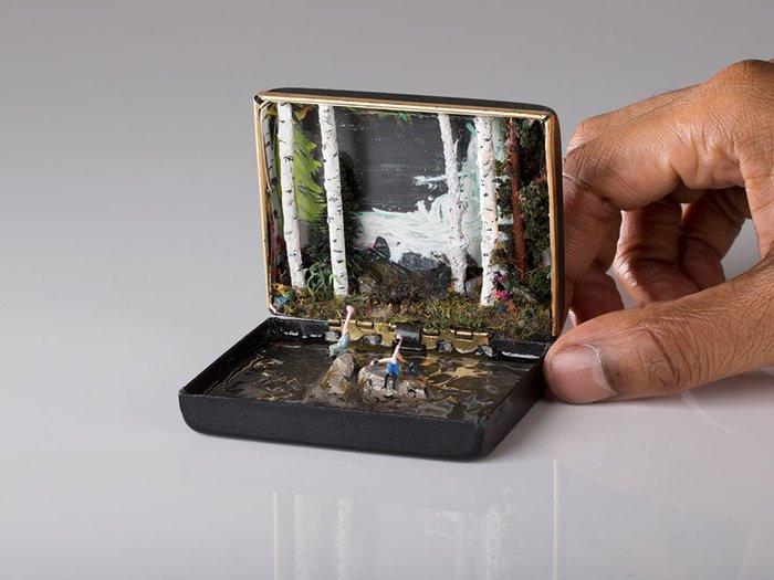 Yüzük kutularına yapılan minyatür çalışmaları