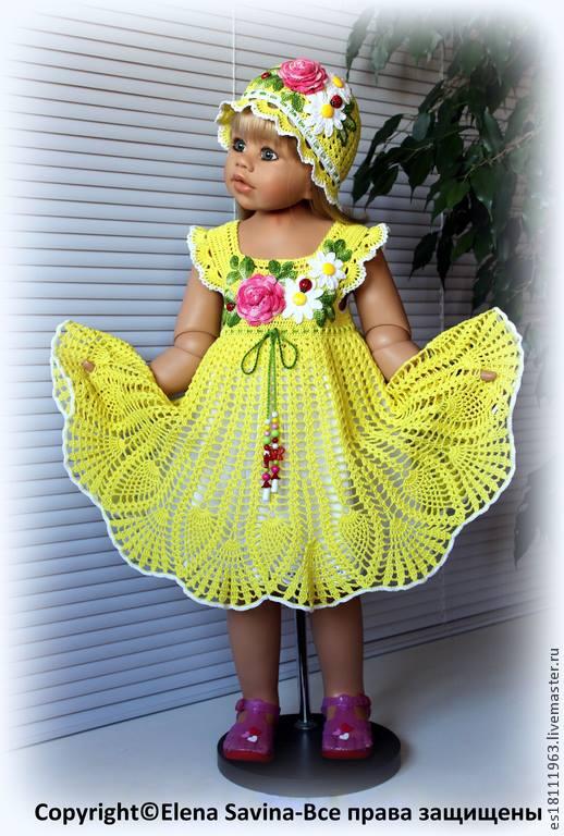 Çiçekli sarı örgü elbise ve bere modeli