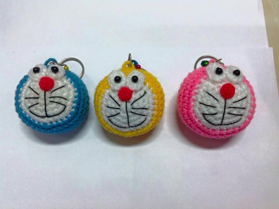 Örgü kedi suratlı anahtarlık modelleri