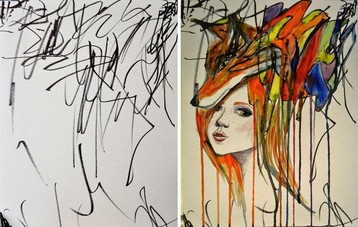 1 Anne kızın muhteşem resim çalışmaları