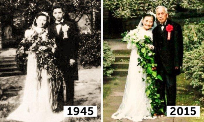1 Sevimli çiftin 70. evlilik yıl dönümü