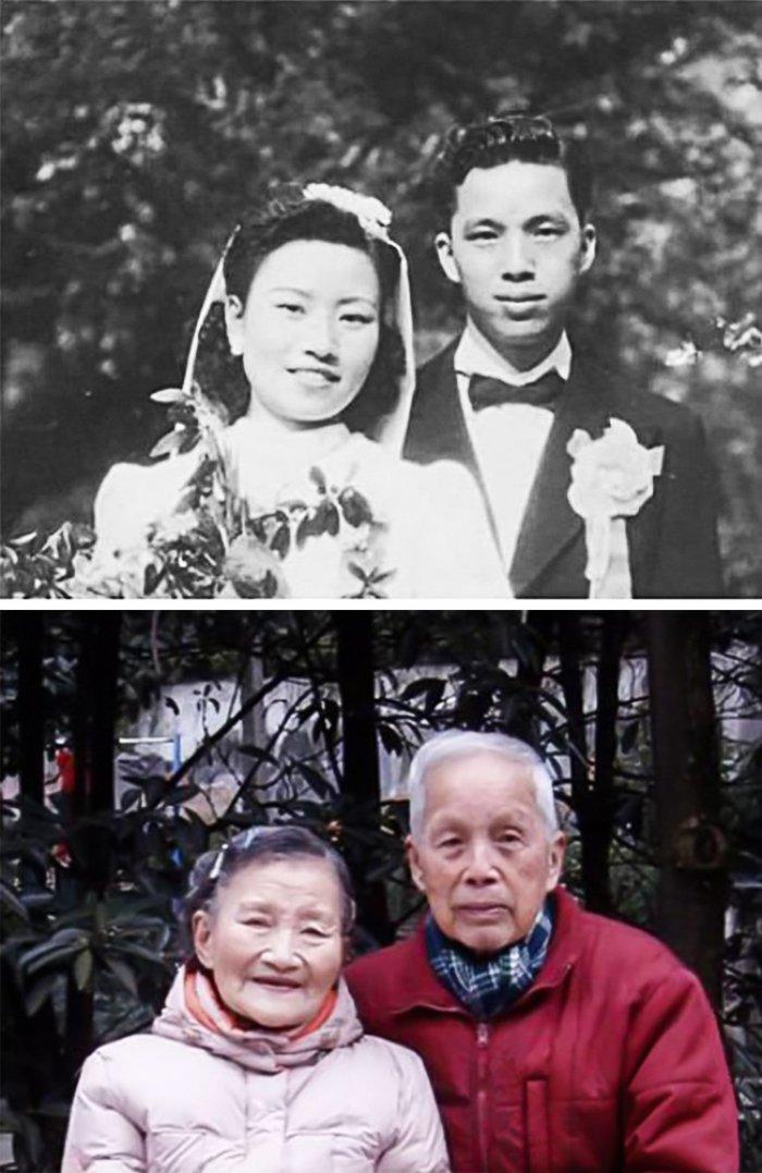 4 Evliliklerini 70 yıl sonra tazeleyen çift